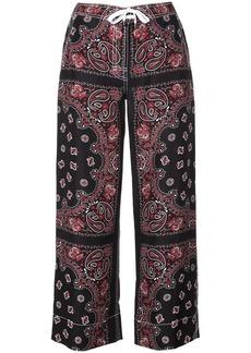 Alexander Wang bandana print trousers