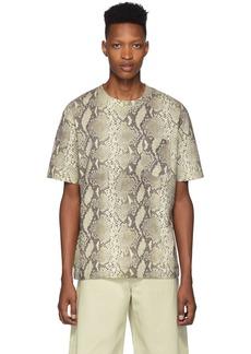Alexander Wang Beige High-Twist Snake Print T-Shirt