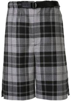 Alexander Wang belted checkered shorts