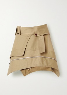 Alexander Wang Belted Cotton-blend Gabardine Mini Skirt