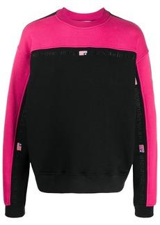 Alexander Wang bi-colour crew neck sweatshirt