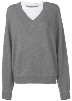 Alexander Wang bi-layer V-neck jumper