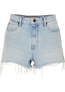 Alexander Wang Bite Frayed Denim Shorts