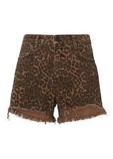 Alexander Wang Bite Leopard Shorts
