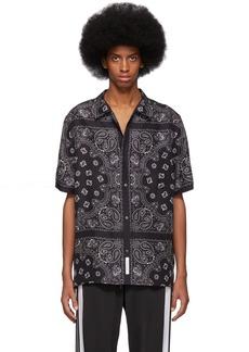 Alexander Wang Black & Grey Silk Bandana Shirt
