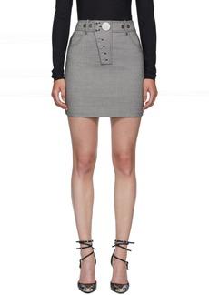 Alexander Wang Black & White Snap Front Miniskirt