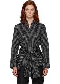 Alexander Wang Black & White Tie Waist Shirt