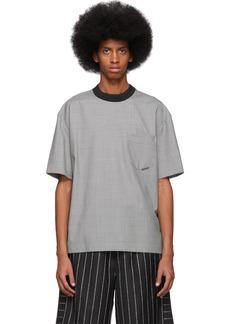 Alexander Wang Black & White Wool Houndstooth T-Shirt