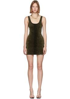 Alexander Wang Black Animal Print Mini Tank Dress