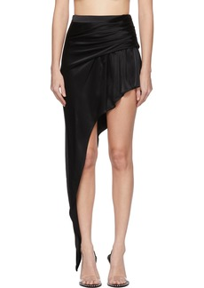 Alexander Wang Black Asymmetric Floor Length Miniskirt