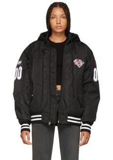 Alexander Wang Black Athletic Patch Bomber Jacket