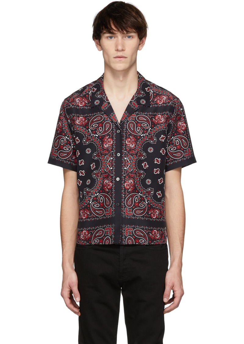 2f387f14b744 Alexander Wang Black Bandana Print Hawaiian Shirt | Dress Shirts