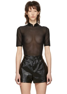 Alexander Wang Black Chain Turtleneck Bodysuit