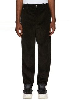 Alexander Wang Black Corduroy Wide Wale Trousers