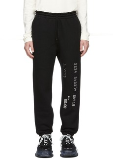 Alexander Wang Black Credit Card Lounge Pants