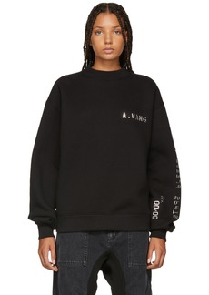Alexander Wang Black Credit Card Sweatshirt