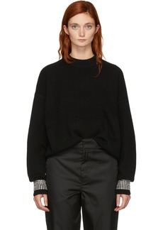 Alexander Wang Black Crystal Cuffs Sweater