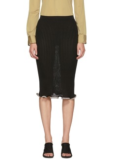 Alexander Wang Black Crystal Stacked Ruffle Skirt