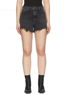 Alexander Wang Black Denim Bite Shorts