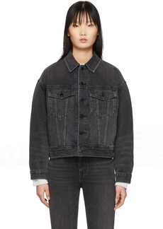 Alexander Wang Black Denim Game Jacket