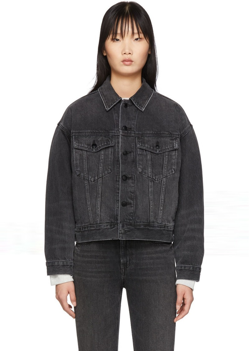Alexander Wang Black Denim Game Jacket