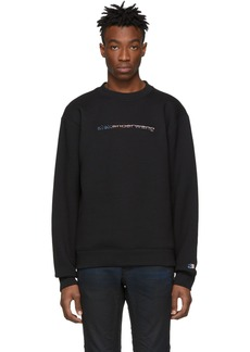 Alexander Wang Black Dense Fleece Logo Sweatshirt