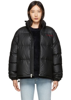 Alexander Wang Black Down Pleather Chynatown Jacket