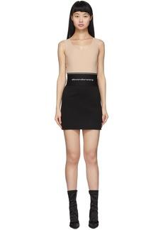 Alexander Wang Black Exposed Zipper Miniskirt
