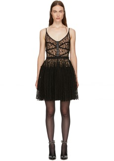 Alexander Wang Black Fitted Bodice Dress