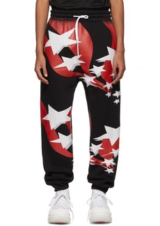 Alexander Wang Black Flag Print Lounge Pants