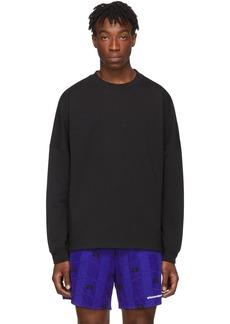 Alexander Wang Black French Terry Logo Sweatshirt