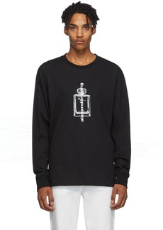 Alexander Wang Black Graphic Long Sleeve T-Shirt
