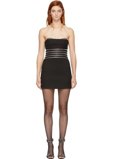 Alexander Wang Black Grommet Cup Bustier Dress