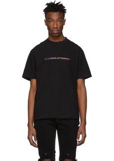 Alexander Wang Black High Twist Flag Logo T-Shirt
