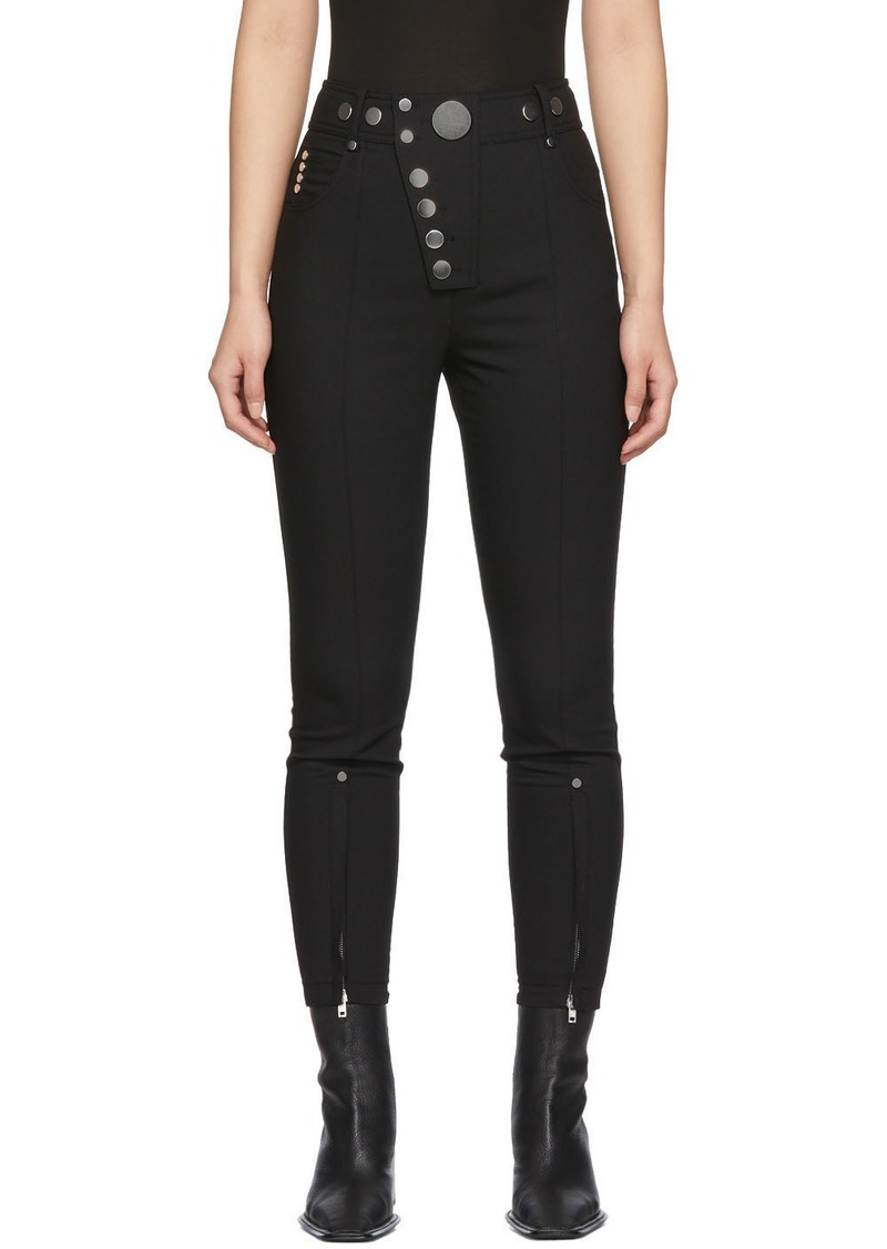 Alexander Wang Black High-Waisted Snap Front Trousers