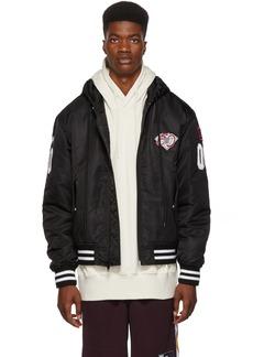 Alexander Wang Black Hooded Bomber Jacket