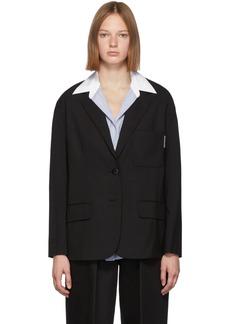 Alexander Wang Black Integrated Shirt Blazer