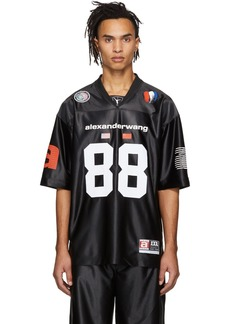 Alexander Wang Black Jersey High Shine T-Shirt