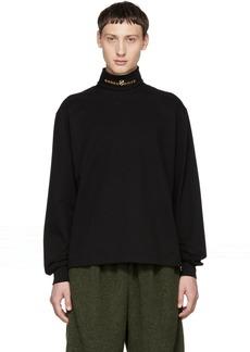 Alexander Wang Black Jersey Turtleneck Sweater
