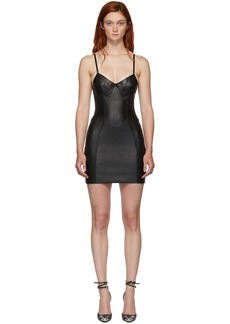 Alexander Wang Black Leather Stretch Dress