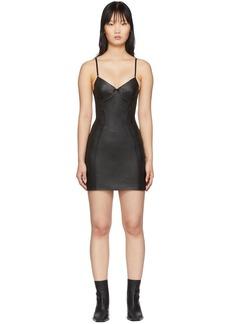 Alexander Wang Black Leather Stretch Dress