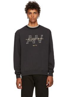 Alexander Wang Black Logo Crewneck Sweatshirt