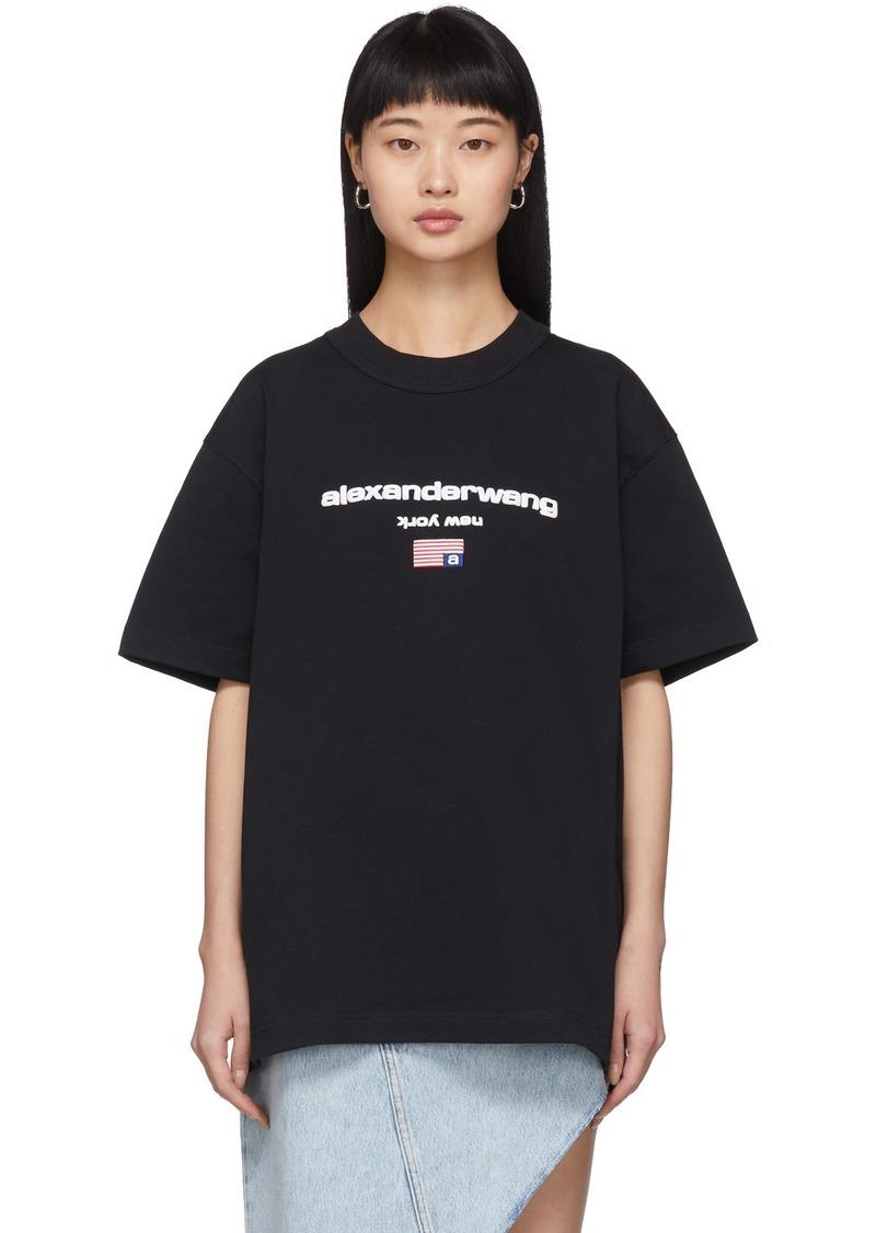 Alexander Wang Black Logo Flag T-Shirt