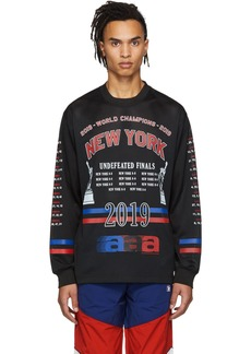 Alexander Wang Black Mesh Athletic Long Sleeve T-Shirt