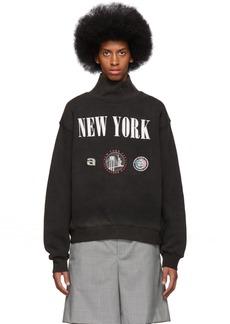 Alexander Wang Black 'New York' Souvenir Sweatshirt