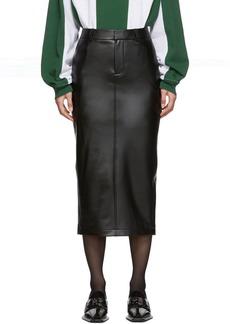 Alexander Wang Black Peg Skirt