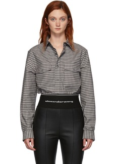 Alexander Wang Black Plaid Western Shirt
