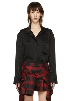 Alexander Wang Black Pyjama Long Sleeve Shirt