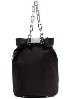 Alexander Wang Black Satin Attica Soft Dry Bag