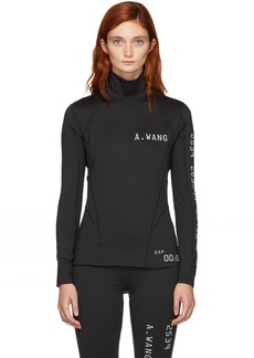 Alexander Wang Black Scuba Reflective Turtleneck